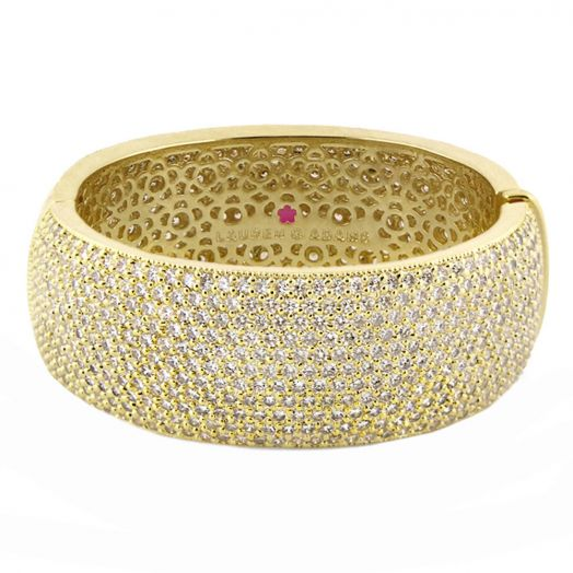 Thick Glamour Pave Bangle