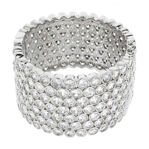 Shimmer and Glimmer Pave Bangle
