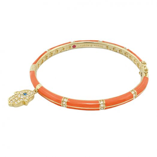 Lucky Hamsa Stackable Bangle