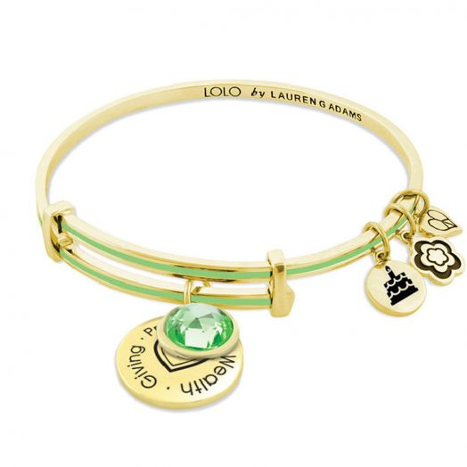 August Birthstone Color Bangle