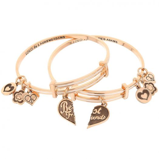 Lolo Best Friends Set of Two Heart Bangles.