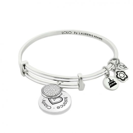 Lolo April Birthstone Bangle With Crystals