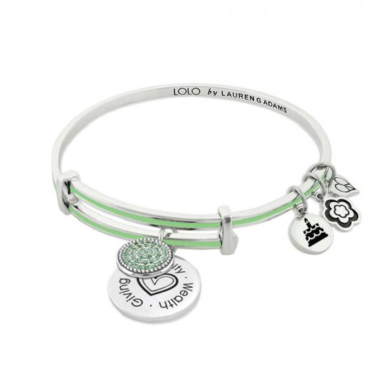 Lolo August Birthstone Bangle With Crystals