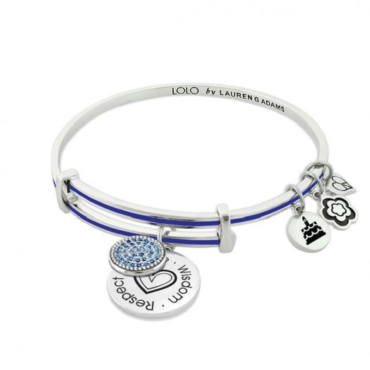 Lolo September Birthstone Bangle With Crystals