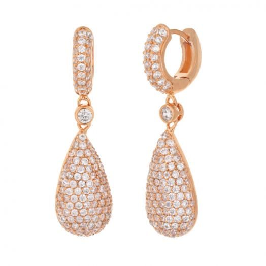 Glamour Pave Drop Earrings
