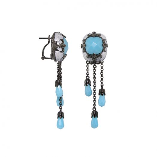 Knights of Love Chandelier Earrings
