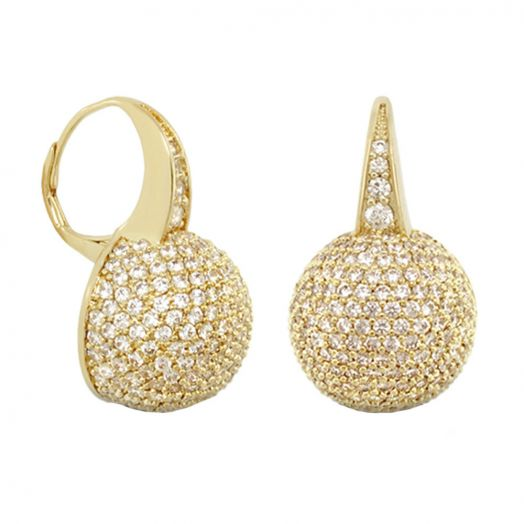 Glamour Pave Ball Earrings