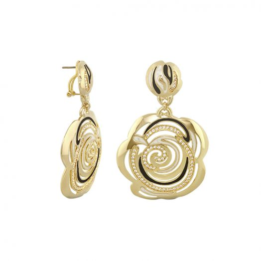 Rose Flower Earrings
