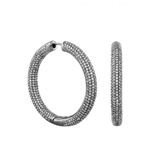 Shimmer and Glimmer Pave Round Earrings