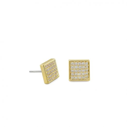 Open Arms Pave Earrings