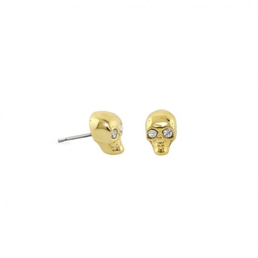 Open Arms Skull Earrings.