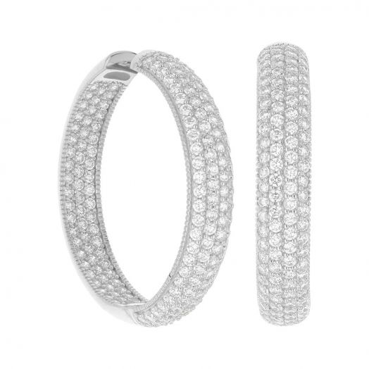 Glamour Pave .925 Earring
