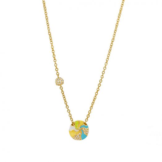 Earth Wind and Pave Necklace