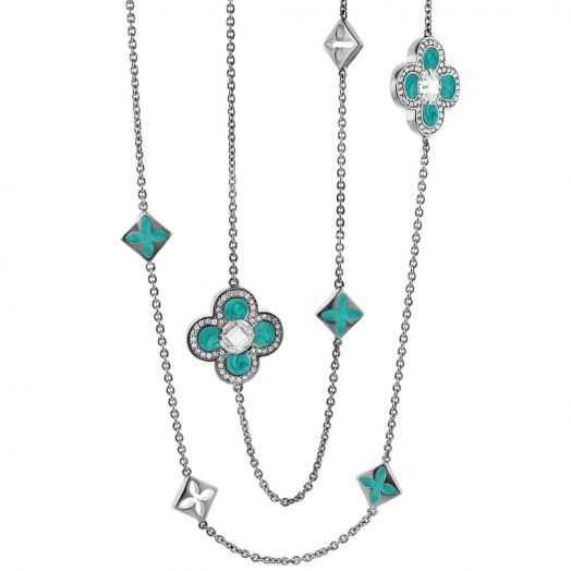 Floral Knight Clover Necklace