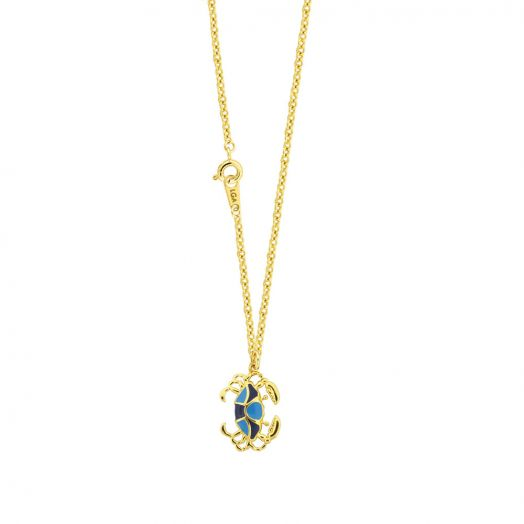 Bluecrab Pendant With Necklace