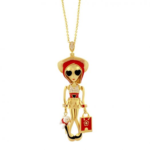 Uptown Girls Pendant Necklace