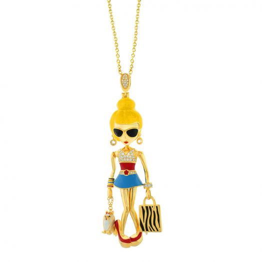 Uptown Girls Charm Necklace