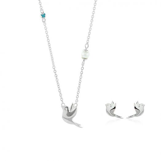 Sydney Leigh Dove Necklace & Earrings Set