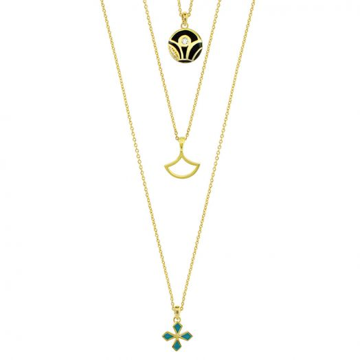 Delicato Triple Chain Necklace