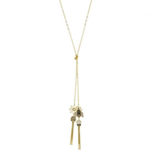 Yellow Bumble Bee Necklace