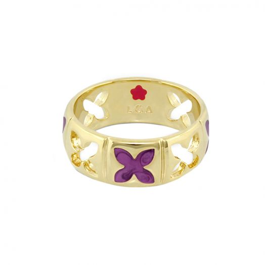 Floral Knight Band Ring
