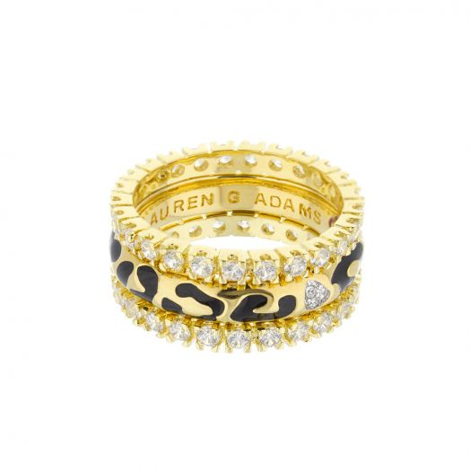 Sweet Leopard Ring Set