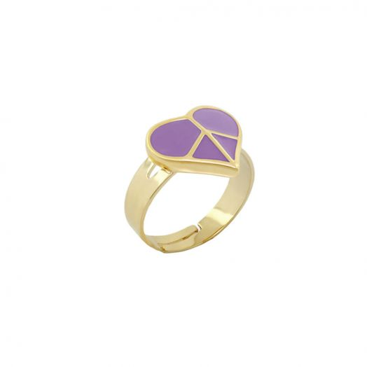 Peace Sign Girls Stackable Ring