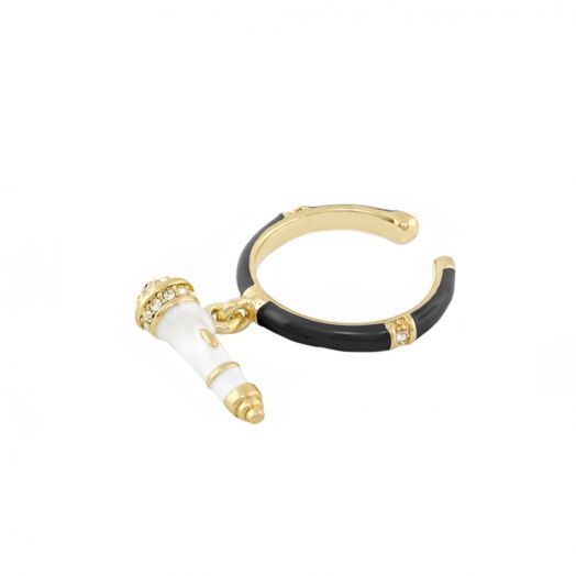 Ring With Microphone Charm