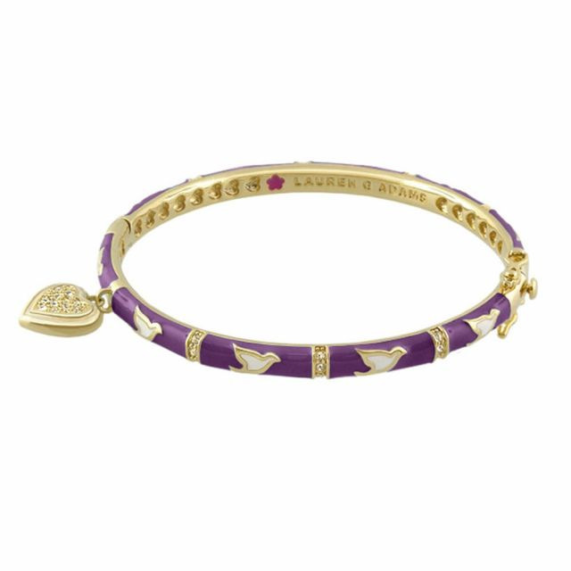 Stackable Bangle With Heart Charm