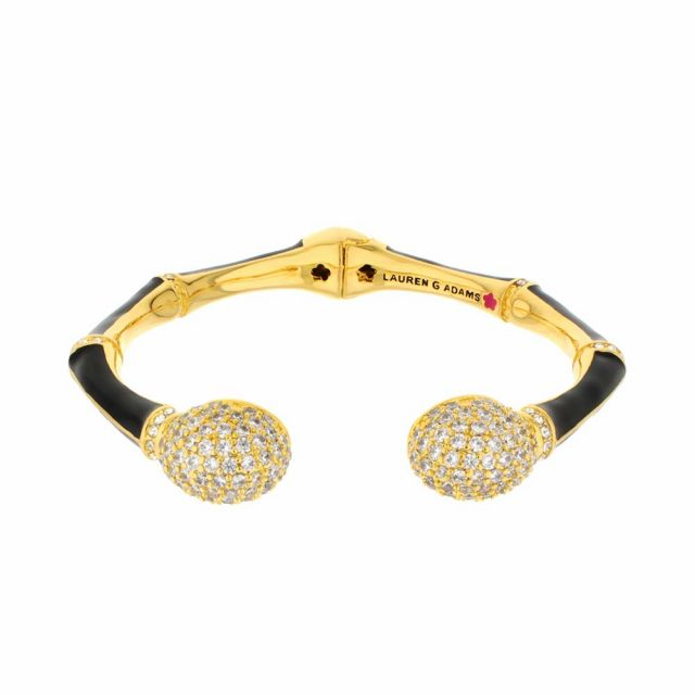 Bamboo Pave Bangle