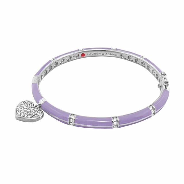 Pave Heart Stackable Bangle