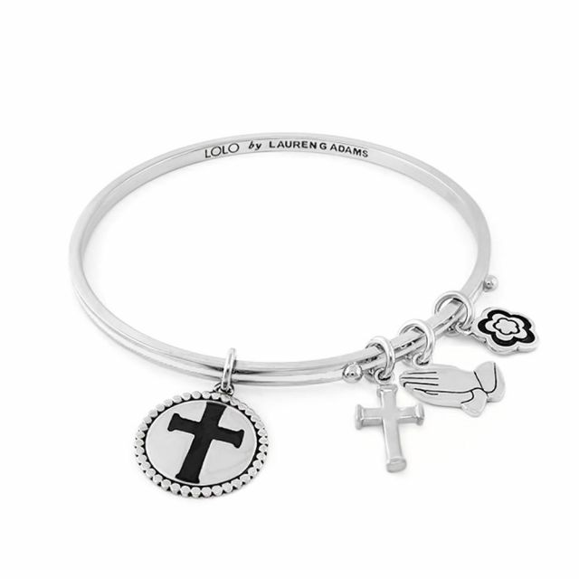 Lolo Cross Non Adjustable Bangle.