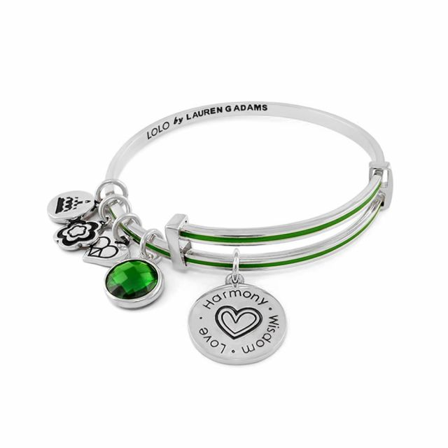 May Birthstone Color Bangle