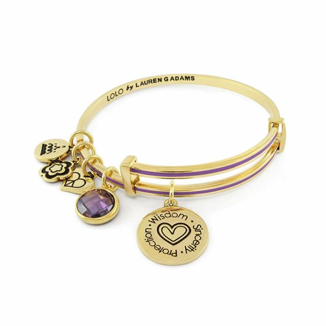 February Birthstone Color Bangle