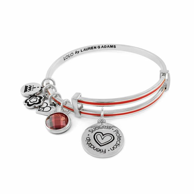 January Birthstone Color Bangle