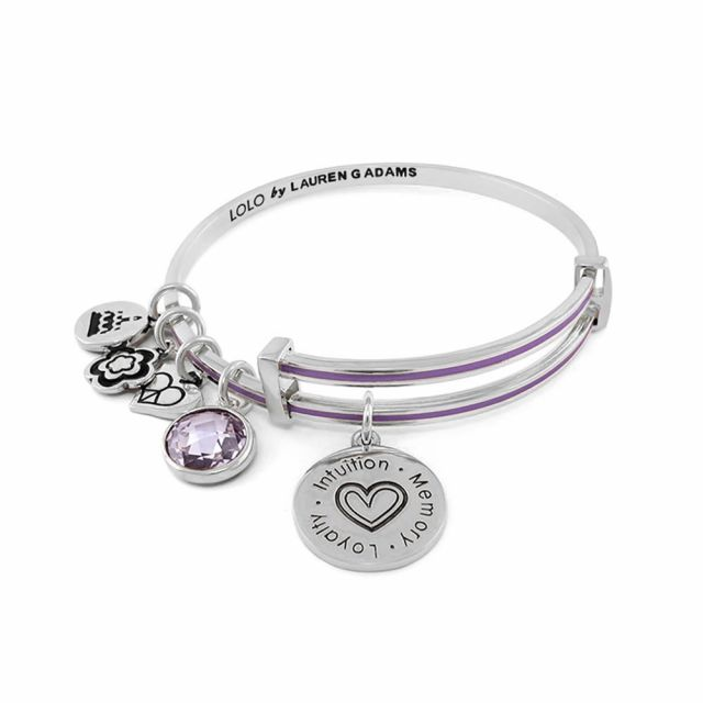 June Birthstone Color Bangle