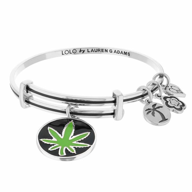 Lolo Jamaica Marijuana Leaf Bangle