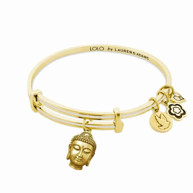 Lolo Budha Head Charm Bangle.