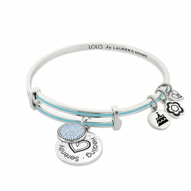 March Birthstone Color Bangle