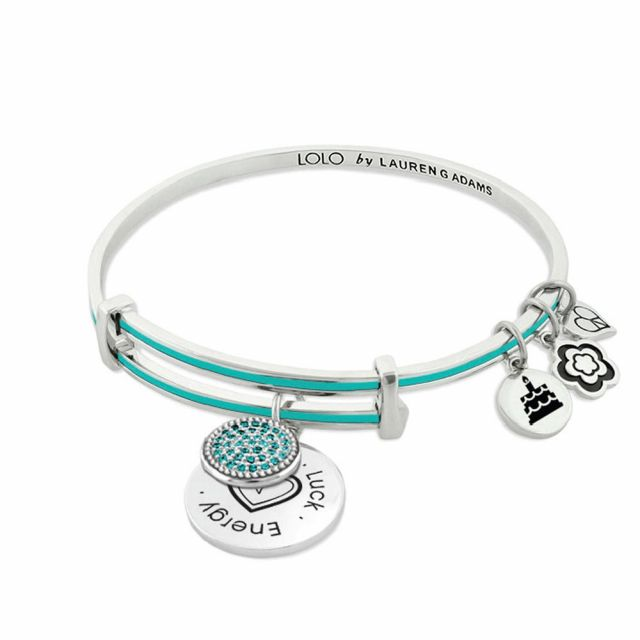 December Birthstone Color Bangle