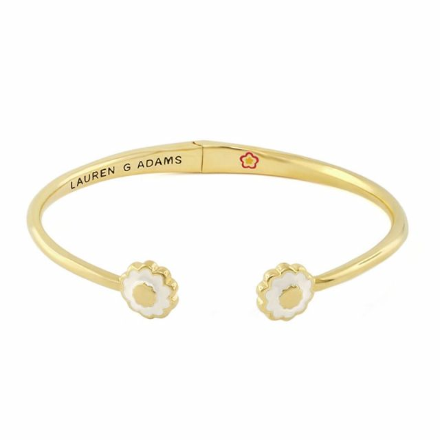 Open Arms Flower Bangle