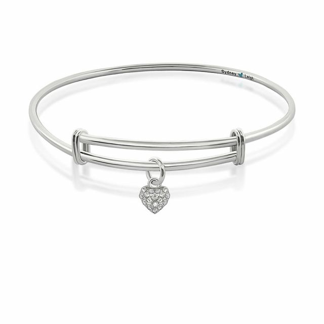 Sydney Leigh Pave Heart Bangle