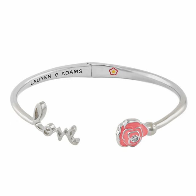 Open Arms Rose Bangle