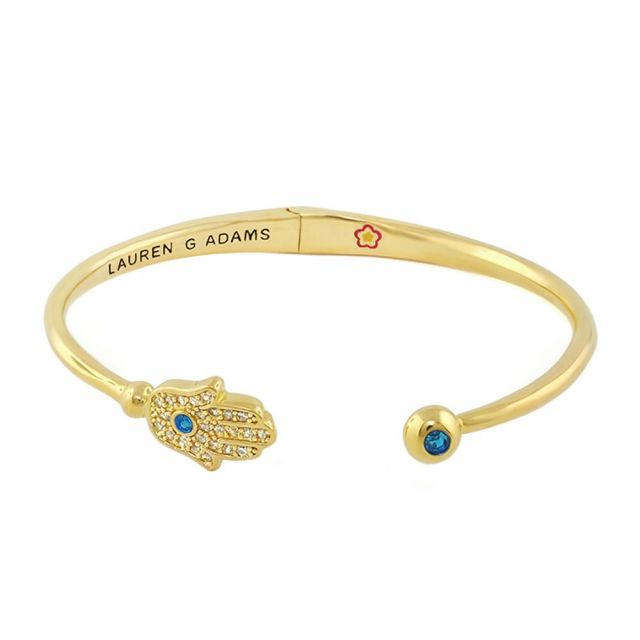 Open Arms Hamsa Bangle