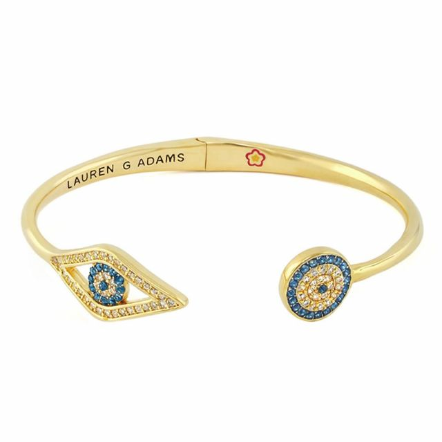 Open Arms Evil Eye Bangle