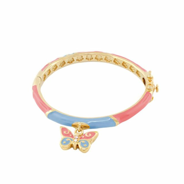 Stackable Girl's Butterfly Charm Bangle