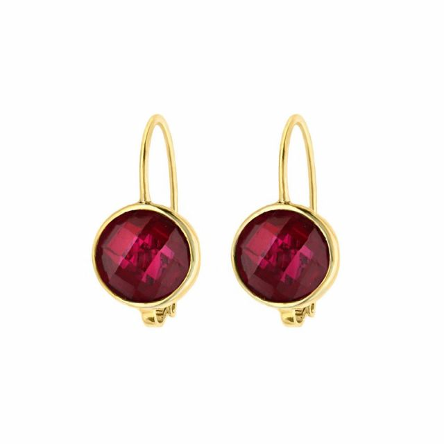 July Birthstone Color Earrings