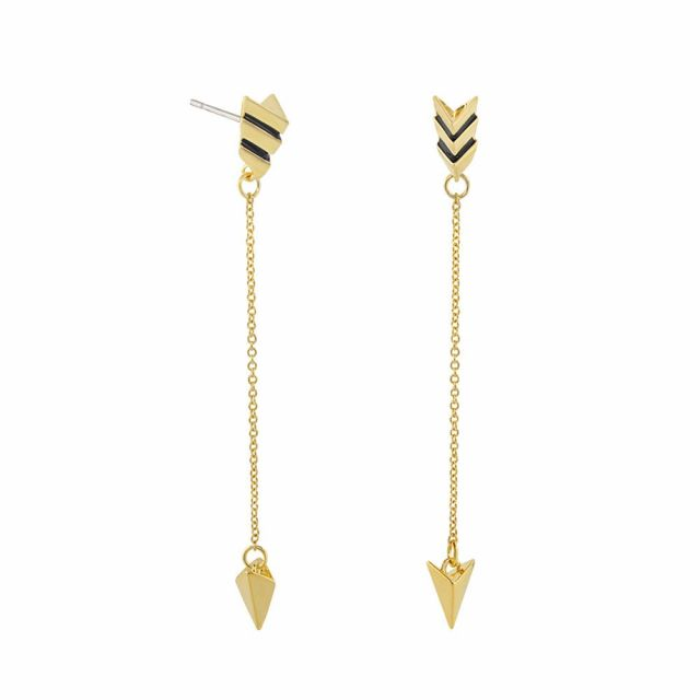 Open Arms Arrow Earrings