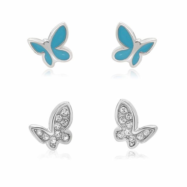 Sydney Leigh Butterfly Earrings Set of 2