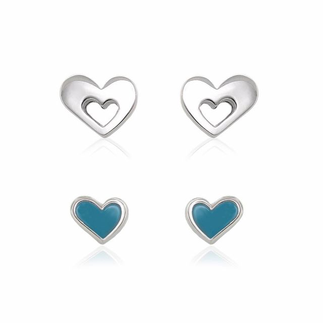 Sydney Leigh Heart Earrings Set of 2